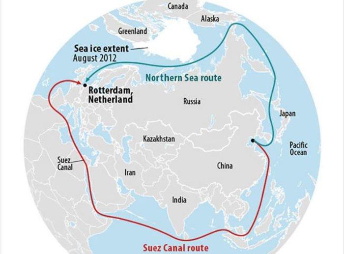 Παγοθραυστικό τάνκερ μετέφερε φυσικό αέριο μέσω της Βόρειας Θάλασσας