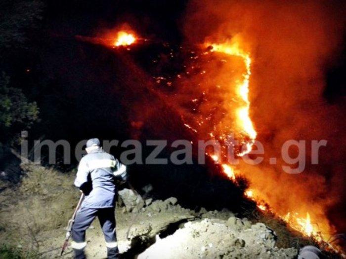 Την ώρα της λιτανείας ξέσπασε νέα φωτιά στη Ζάκυνθο - εικόνα 3
