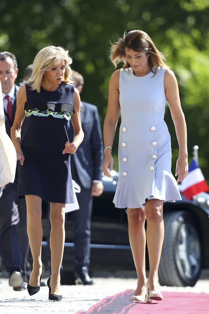 Το κοντό φόρεμα της Μπριζίτ Μακρόν που δεν πήρε τις καλύτερες κριτικές