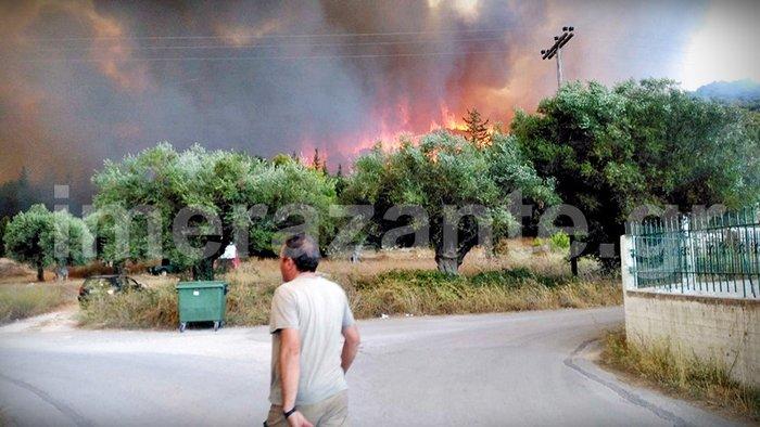 Στιγμές κόλασης στο χωριό Αναφωνήτρια - Η φωτιά πλησιάζει στις Μαριές - εικόνα 6