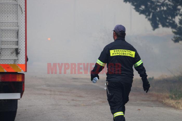 Δύο πύρινα μέτωπα στην Πρέβεζα: Στάχτη εργοστάσιο και θερμοκήπια - εικόνα 3