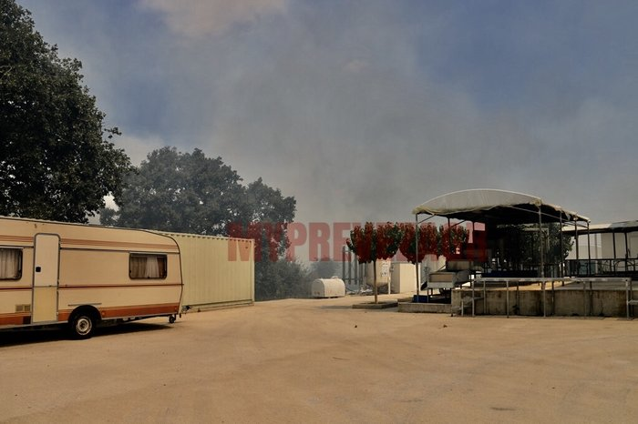 Δύο πύρινα μέτωπα στην Πρέβεζα: Στάχτη εργοστάσιο και θερμοκήπια