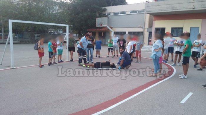 Τραυματίστηκε μαθητής σε σχολείο ενώ έπαιζε ποδόσφαιρο (ΦΩΤΟ)