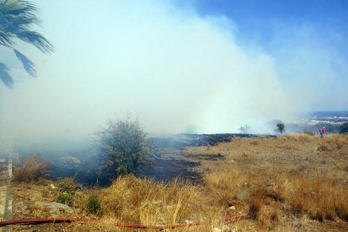 Φωτιά κοντά σε κατοικημένη περιοχή ξέσπασε στη Ρόδο - εικόνα 9