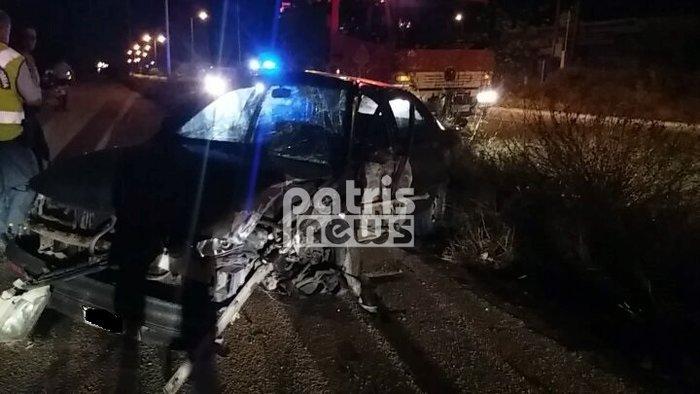 Τρεις τραυματίες σε σοβαρό τροχαίο στην Πύργου - Πατρών (ΦΩΤΟ)