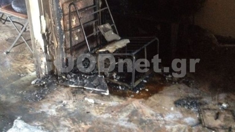 Φωτιά στα γραφεία του ΣΥΡΙΖΑ στο Ρέθυμνο