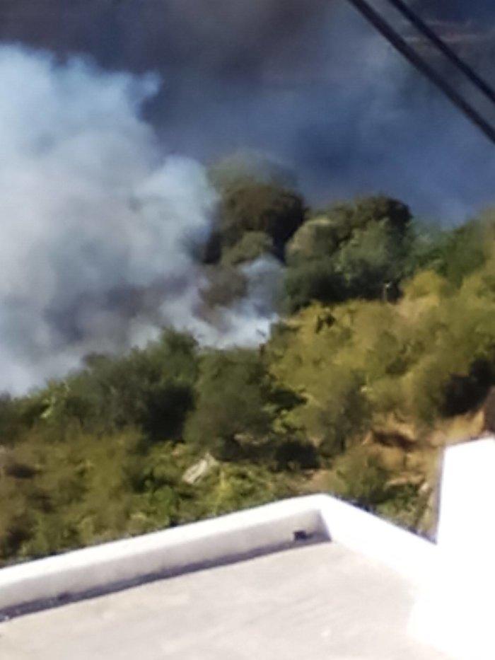 Φωτιά στη Νάξο ανάμεσα σε δυο χωριά - Κινδύνευσε κατοικία Βίντεο - εικόνα 2