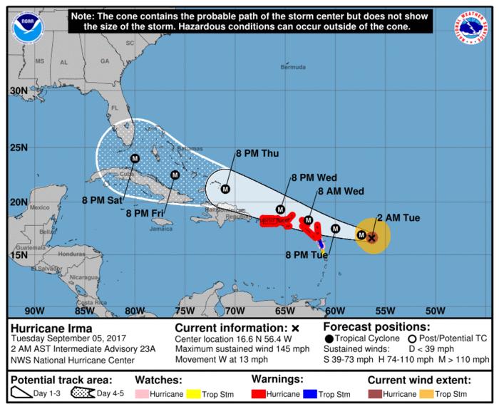 Σε κατάσταση ετοιμότητας η Καραϊβική - Πλησιάζει η Ίρμα