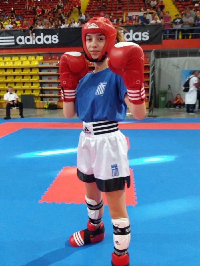Ασημένιο μετάλλιο στο Kick Boxing η 15χρονη Σεμέλη Ζαρμακούπη - εικόνα 3