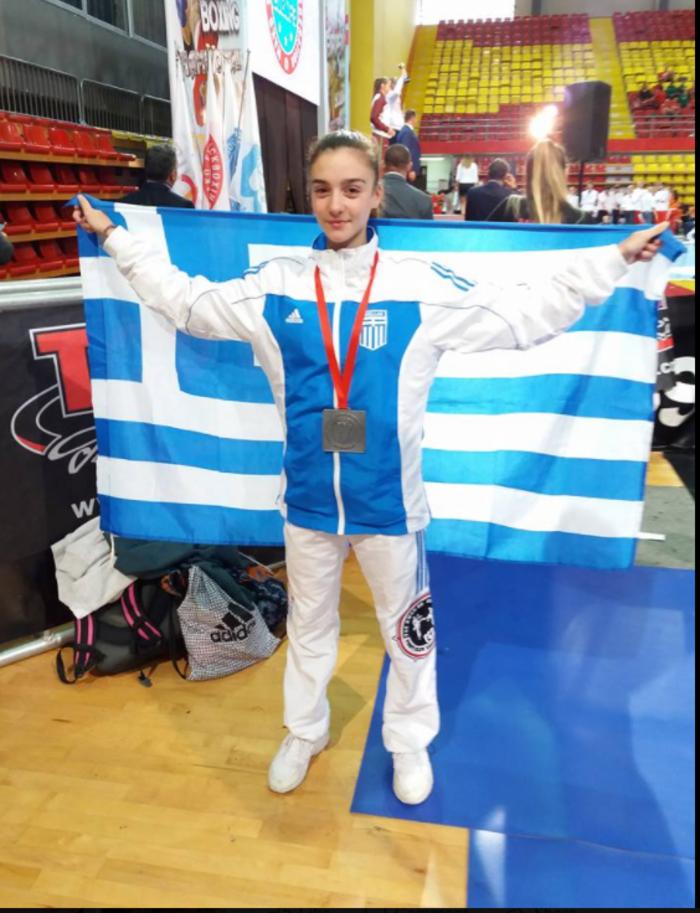 Ασημένιο μετάλλιο στο Kick Boxing η 15χρονη Σεμέλη Ζαρμακούπη