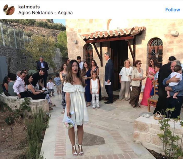 Η Κατερίνα Μουτσάτσου ..ξαναπαντρεύτηκε στην Αίγινα