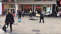H επεισοδιακή σύλληψη υπόπτου με μαχαίρι στο Μπέρμιγχαμ -βίντεο