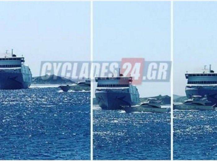 «Εμφράγματα» στο λιμάνι της Μυκόνου από κασκαντέρ καπετάνιο φωτό