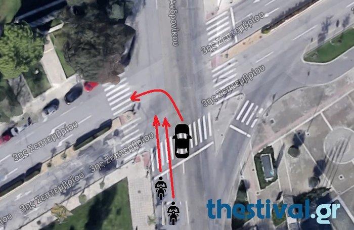 Τραγικό τροχαίο με τρεις νεκρούς στο κέντρο της Θεσσαλονίκης - εικόνα 2