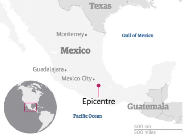 Εκατόμβη νεκρών στο Μεξικό από το φονικό χτύπημα του εγκέλαδου