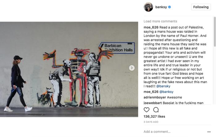 Ο Μπάνκσι με ένα νέο γκράφιτι σχολιάζει τα μέτρα ασφαλείας στο Λονδίνο