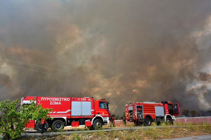 Πυρκαγιά στην παραλιακή οδό Ναυπλίου - Νέας Κίου [φωτό] - εικόνα 2