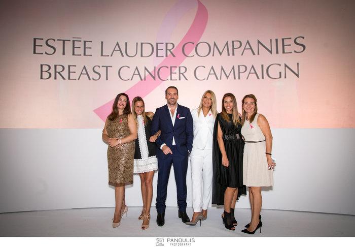 Οι συντελεστές της εκδήλωσης: Η ομάδα της Estee Lauder και της Darphin