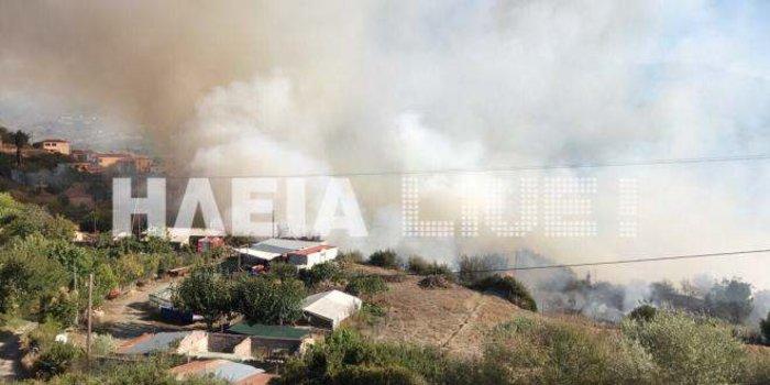 Τρεις φωτιές στην Ηλεία - Απειλείται η κοινότητα Μάκιστος