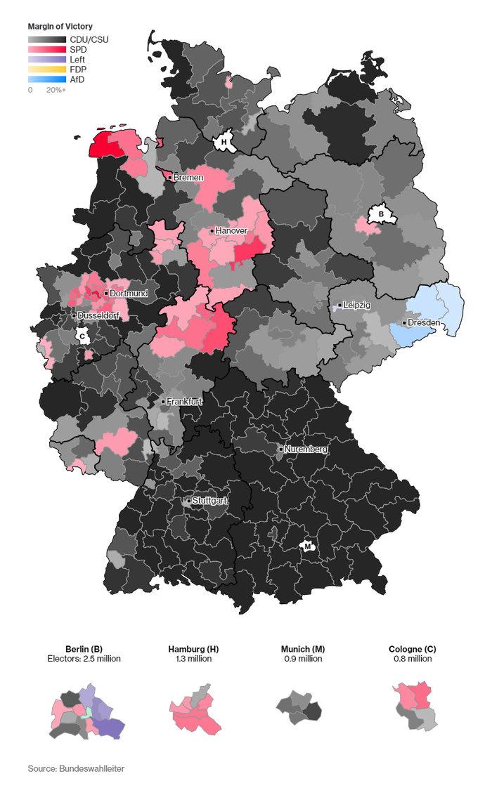 Η «ακτινογραφία» της ψήφου: Ποιοι ψήφισαν Μέρκελ-ποιοι AfD