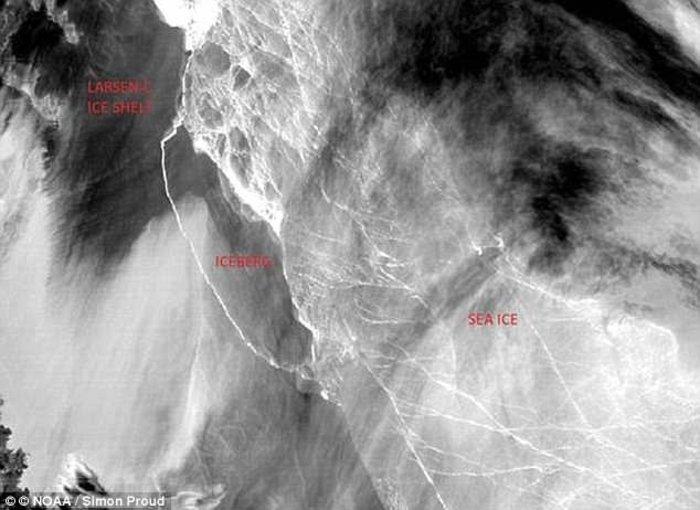 Παγόβουνο από την Ανταρκτική πλέει προς τον Ατλαντικό - εικόνα 2
