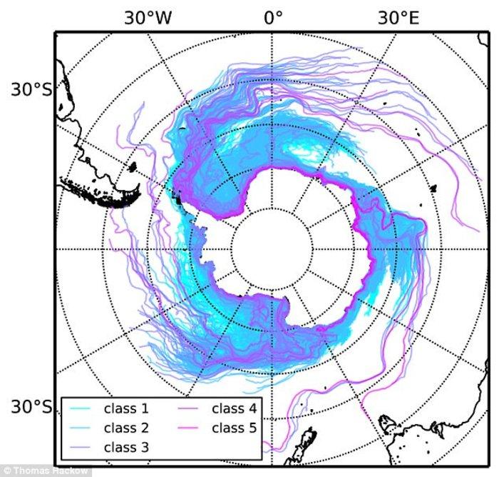Παγόβουνο από την Ανταρκτική πλέει προς τον Ατλαντικό - εικόνα 3