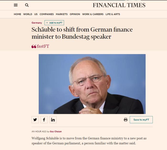 Τέλος εποχής στη Γερμανία - Αποχωρεί από το ΥΠΟΙΚ ο Σόιμπλε - εικόνα 2