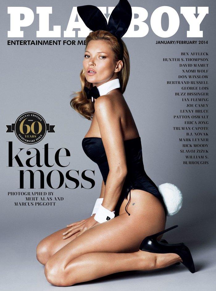 Ιανουάριος-Φεβρουάριος 2014: Το Playboy γιορτάζει τα 60 του χρόνια με την Κέιτ Μος στο εξώφυλλο.