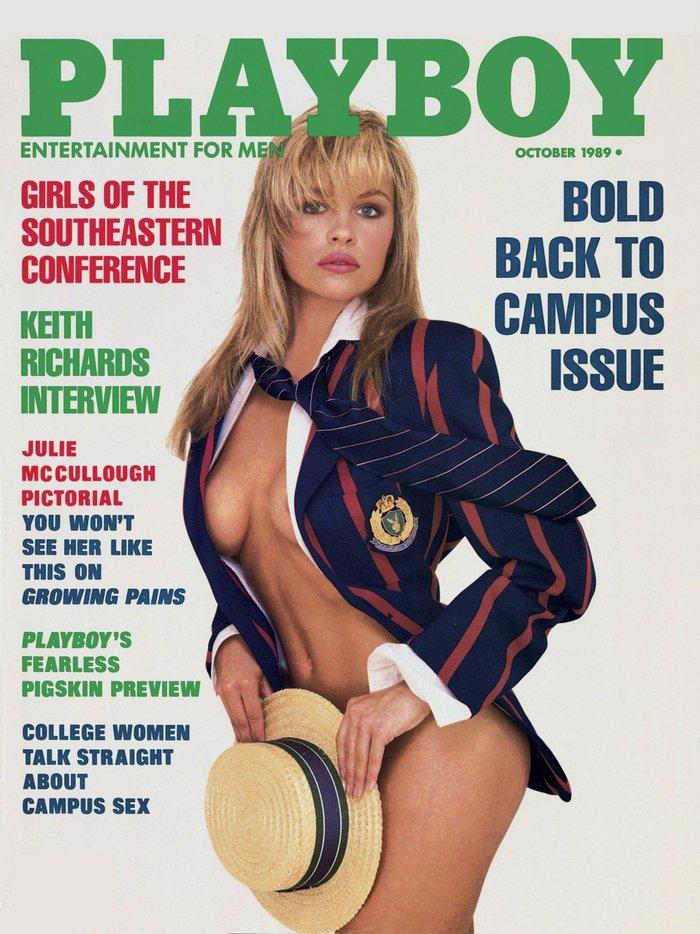 Οκτώβριος 1989. Η Pamela Anderson κρατάει ακόμη το ρεκόρ, καθώς έχει βρεθεί 13 φορές στο εξώφυλλο του Playboy.
