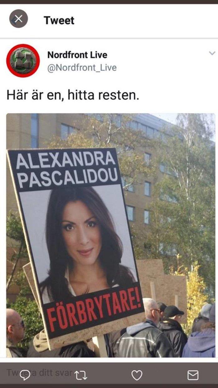 Στόχος Σουηδών νεοναζί η Αλεξάνδρα Πασχαλίδου