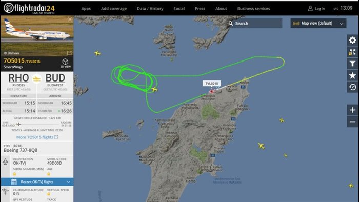 Εκτακτη προσγείωση αεροσκάφους Boeing 737 στο αεροδρόμιο της Ρόδου