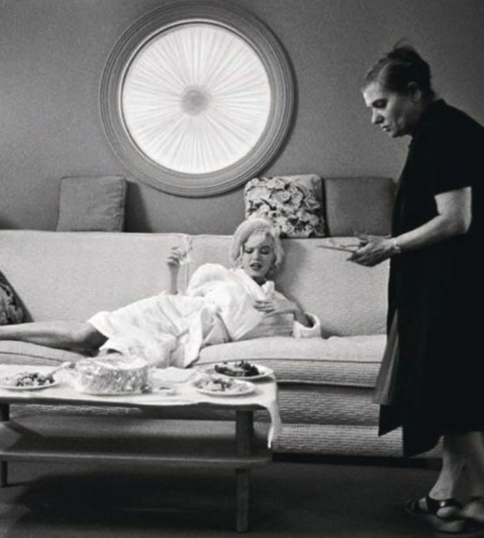 Lawrence Schiller – Marilyn Monroe (On Couch) & Paula Strasburg, 1962$5,000.00