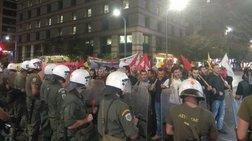 Ένταση στην πορεία διαμαρτυρίας για την ομιλία Τσίπρα στη Θεσσαλονίκη