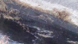 Μαύρο υγρό τρομοκρατεί τους κατοίκους στο Γιόφυρο Ηρακλείου  (φωτο/βίντεο)