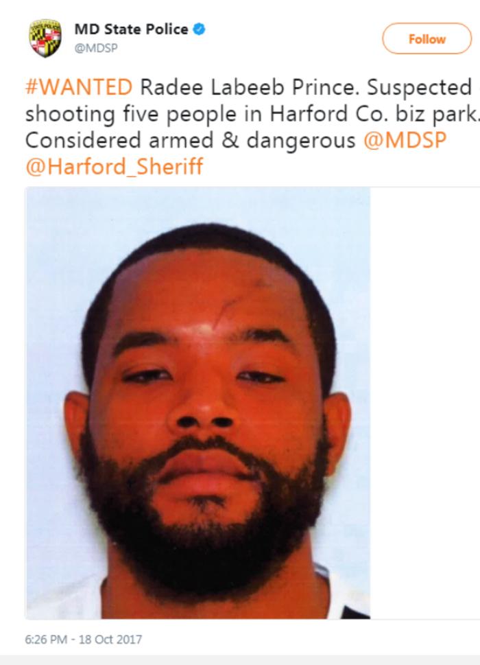 Πυροβολισμοί στο Μέριλαντ: 3 νεκροί, 5 τραυματίες - εικόνα 2