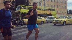 Ο Σαρκοζί έπαθε ...Τσίπρα και βγήκε για τρέξιμο στο Σύνταγμα