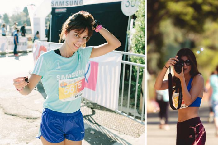 Αριστερά, η Δανάη Πασπάτη που ανέβηκε στο βάθρο στην κατηγορία έως 29 ετών. Δεξιά, η φωτογράφος και μοντέλο Ελισάβετ Κατσαμάκη.