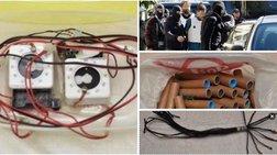 Ετοιμα πακέτα-βόμβες,εκρηκτικά & όπλα στη γιάφκα του 29χρονου