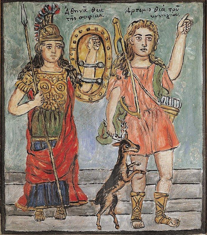 Αθηνά και Άρτεμις, π. 1927-1934 Θεόφιλος Χατζημιχαήλ