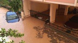 Πλημμύρα με εγκλωβισμένους οδηγούς και κατοίκους σε Νέα Πέραμο & Μάνδρα