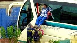 Κινδύνευσαν οδηγοί και επιβάτες λεωφορείου στην Ελευσίνα