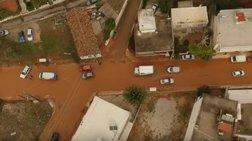 Εικόνες βιβλικής καταστροφής στο Θριάσιο Πεδίο - βίντεο από drone