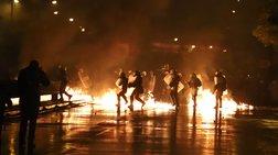 Βροχή από μολότοφ & φωτιές σε Θεσσαλονίκη &  Πάτρα Video