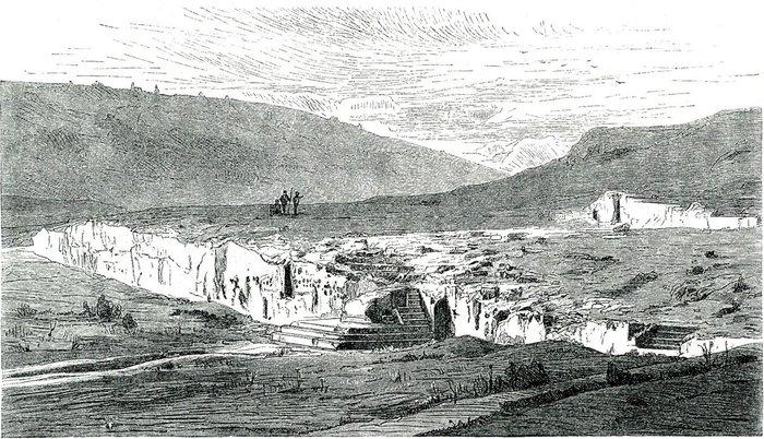 Πνύκα - Ιστορική απεικόνιση από τον Jacob Falke το 1887
