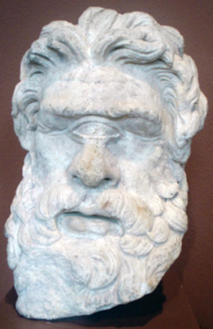 Ο Κύκλωπας Πολύφημος, κεφαλή από τη Θάσο, πιθανόν 2ος αιώνας π.Χ. ή Ρωμαϊκό αντίγραφο. Μουσείο Καλών Τεχνών της Βοστώνης