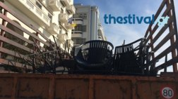 Σκούπα για τραπεζοκαθίσματα στο κέντρο της Θεσσαλονίκης (βίντεο)