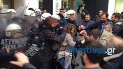 Σοβαρά επεισόδια στη Θεσσαλονίκη για τους πλειστηριασμούς video