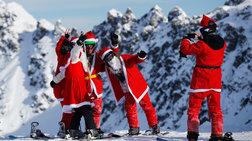 Οι Αγιοβασίληδες στις ελβετικές πίστες του σκι