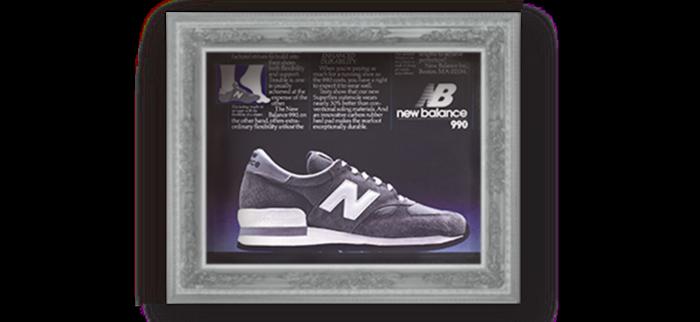 1982 Το τεχνολογικά πιο ενισχυμένο παπούτσι της αγοράς παρουσιάζει η New Balance, το 990