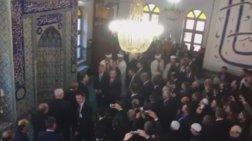 Κομοτηνή: «Ηγέτη, ηγέτη μας» φώναζαν στον Ερντογάν μέσα στο τζαμί